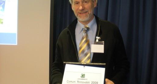 Georg Wunderer. Premiazione Comuni Rinnovabili 2014