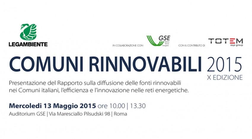 Presentazione Comuni Rinnovabili 2015