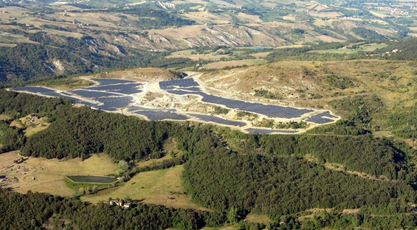 Fotovoltaico su ex cava