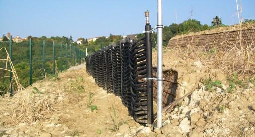 Impianto geotermico a palizzata