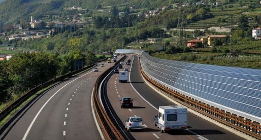 Fotovoltaico in autostrada
