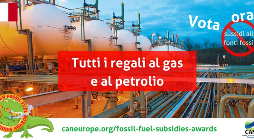 Aiutaci a fermare i sussidi alle fonti fossili in Italia e in Europa