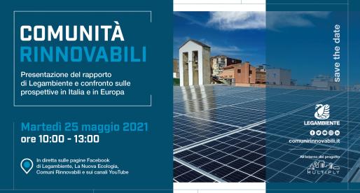 Presentazione del rapporto di Legambiente Comunità Rinnovabili 2021